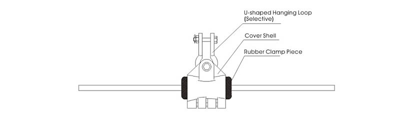 Right Angle Suspension : Single double suspension clamps for opgw optical cable